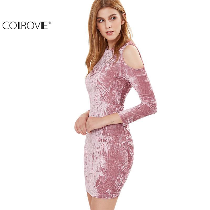 Compre Colrovie Womens Sexy Dresses Party Night Club Dress Vestido ...