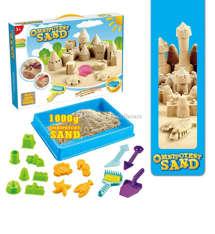 Environmental certification wonderful Creative indoor sandy beach toys with space sand play tools for kids birthday party gift wholesale