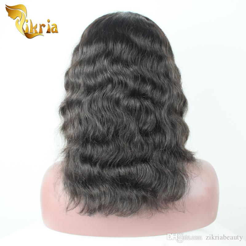Full Lace Human Hair Wigs Big Bob Wave Brazilian Virgin Hair Indian Peruvian Malaysian Lace Front Wigs For Black Women