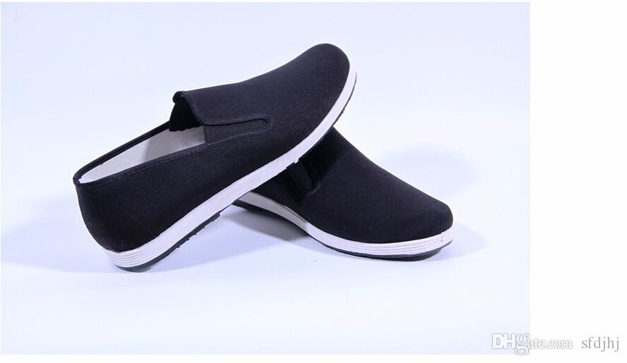 1b76a1b4c27 2017 New Old Peking Black Cloth Shoes Men Round Mouth Loafers Casual Cotton  Cloth Shoes Male Kung Fu Shoes Fashion Women S Flats Shoe Sale Shoes Uk  From ...