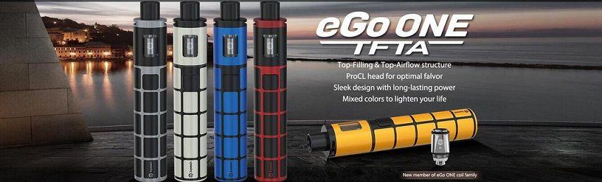 Joyetech eGo ONE TFTA Kit With 2ml Tank Capacity 2300mAh vape pen Battery capacity 100% Original starter kits