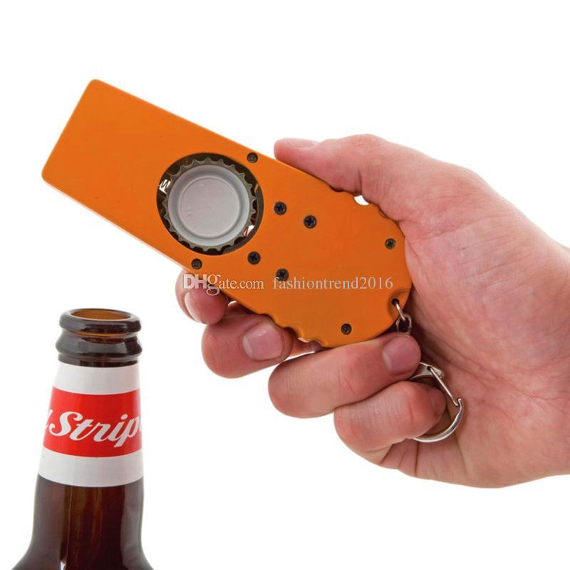 Kunststoff Bier Wein Alkohol Alkohol Flaschenöffner Ejector Keychain Design Großhandel DHL FEDEX Kostenloser Versand