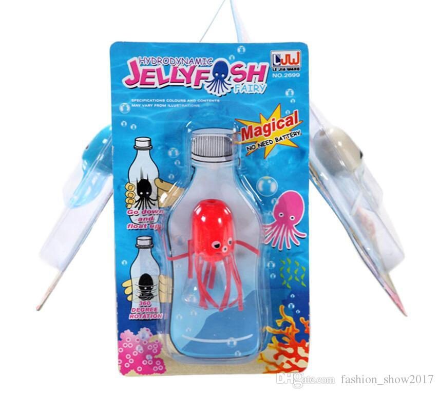 High Qualiyt Hot Aquarium Trucos Cute Magical Magic Sonrisa Medusas Float Ciencia Niños Niños Juguete Educativo
