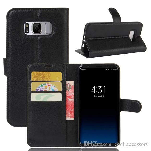For Samsung Galaxy S9 S8 PLUS J3 Prime J3 2017 Emerge Huawei P10 Mate 9 Lite Flip Leather Wallet Pouch Case Litchi Stand Leechee Card Cover