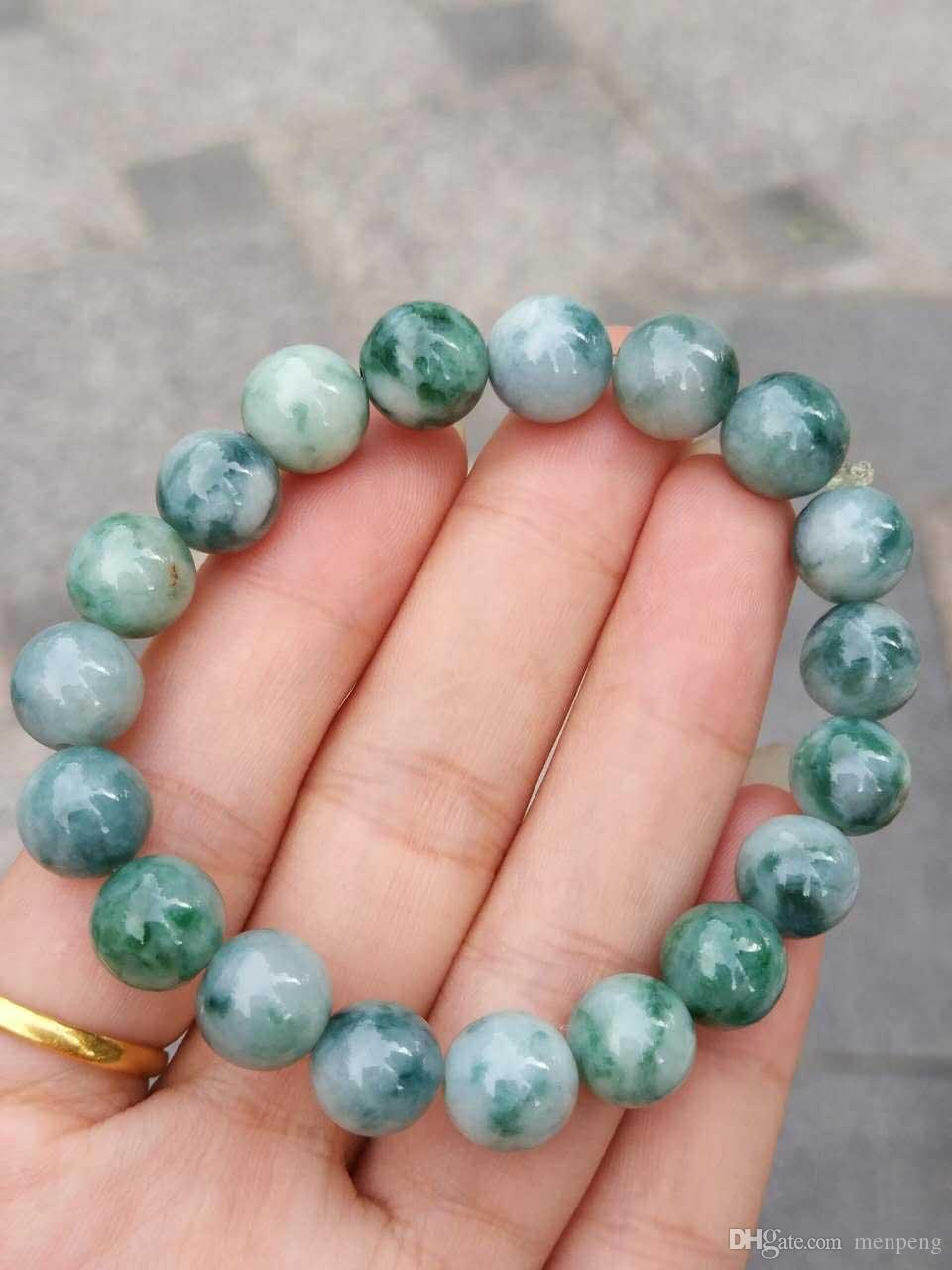 Jade A goods, wave flower hand string, baby colour and lustre is rich, elegant and polished, kind of old water, jade is exquisite, very few