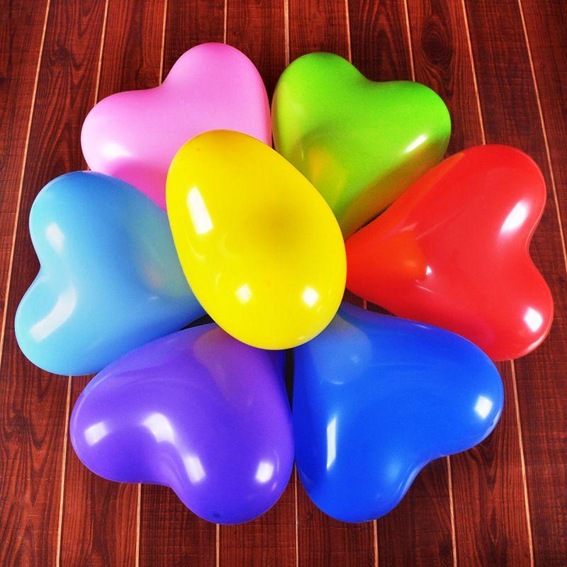 Romantik 12 Inç 2.2g Kırmızı Aşk Kalp Lateks Düğün Helyum Balonlar Sevgililer Günü Doğum Günü Partisi Şişme Balonlar ZA3035