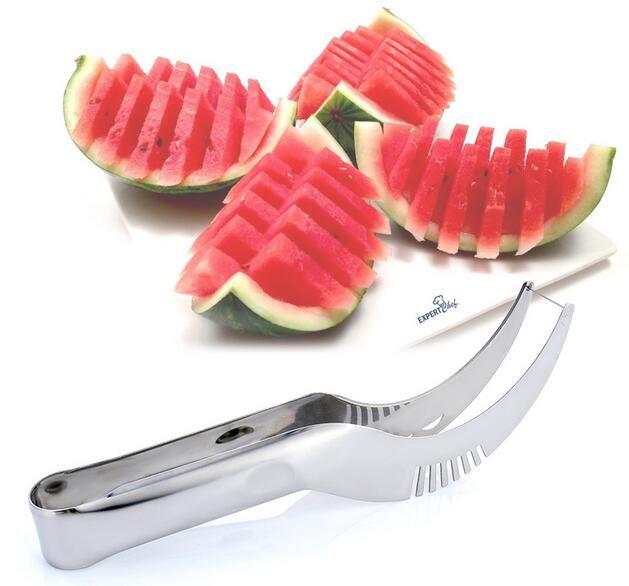 Edelstahl Watermelon Slicer Cutter Messer Corer Obst Gemüse Werkzeuge Küche Gadgets G389