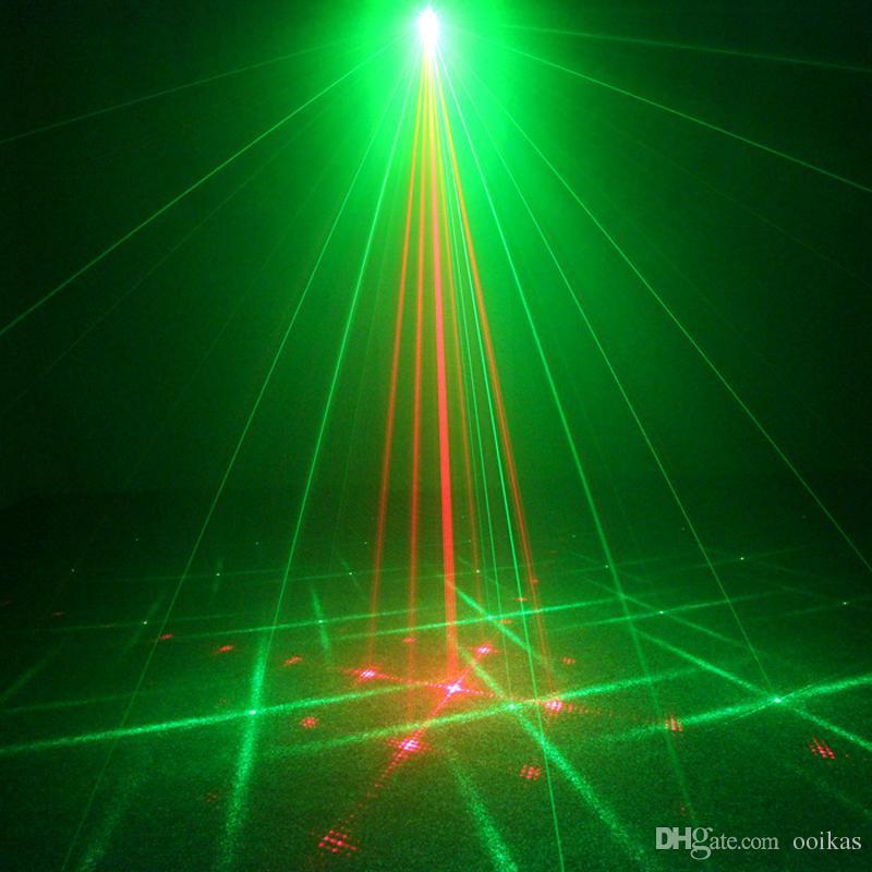 DJ Laser Projektor 18 Mönster Röd Grön Nattklubb Belysning Apartelho De Som Home Party Laser Disco Light Stage Effect