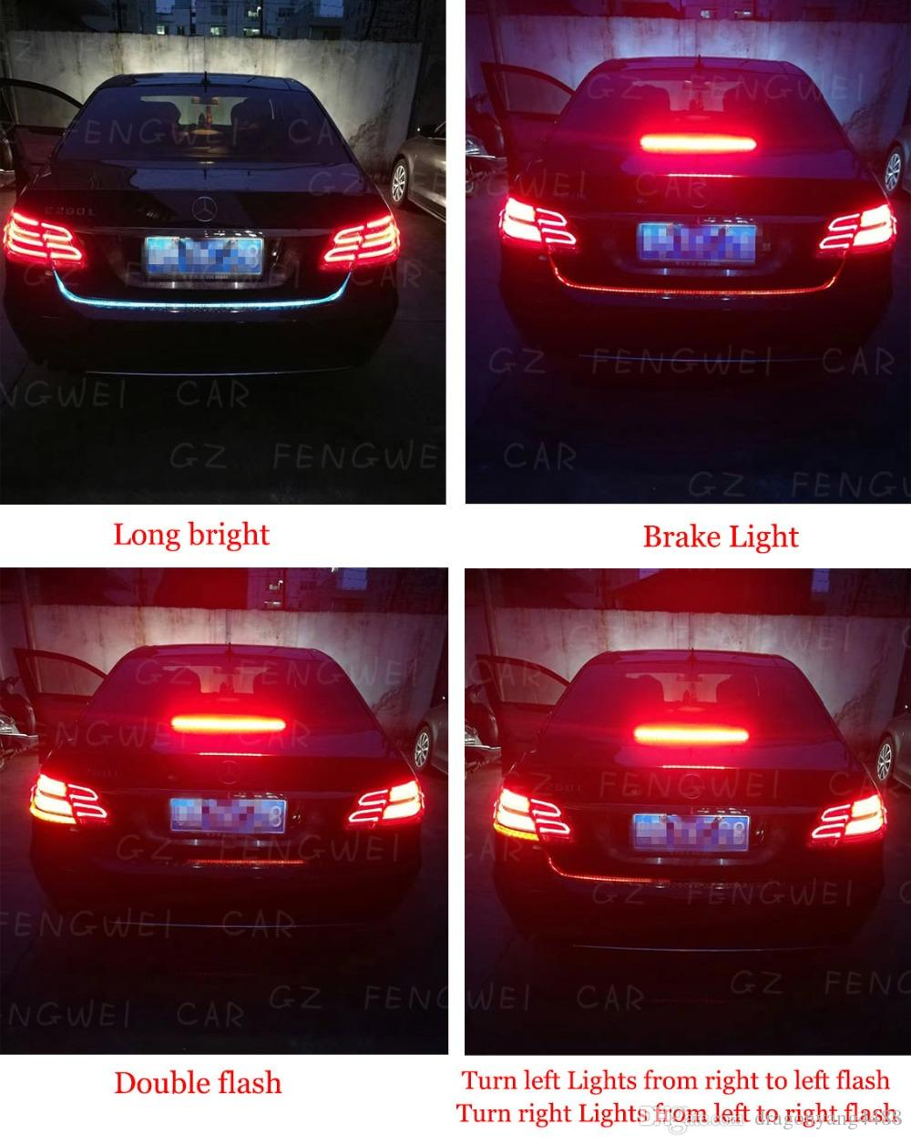 Newest Car Tuning Turn Signal Light Strip Led Trunk Tailgate - Car signal light