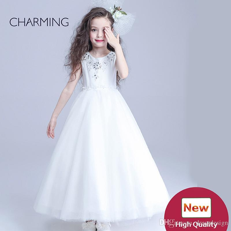 Girls Gowns Flower Girl Long Dresses Simple Flower Girl Dresses High ...