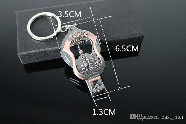 Good A++ Oriental Pearl Travel Souvenir Nail Scissors Keychain Opener Keychain Creative Small Gift KR028 Keychains a