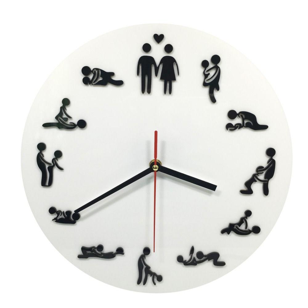 Acheter Sex Position Horloge Murale Creative Vente Chaude Chambre