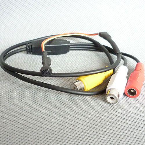 600TVL Cámara estenopeica Seguridad para el hogar Mini cámara CCTV Micro Cam Grabador de audio y video HD Cámara DIY NTSC / PAL