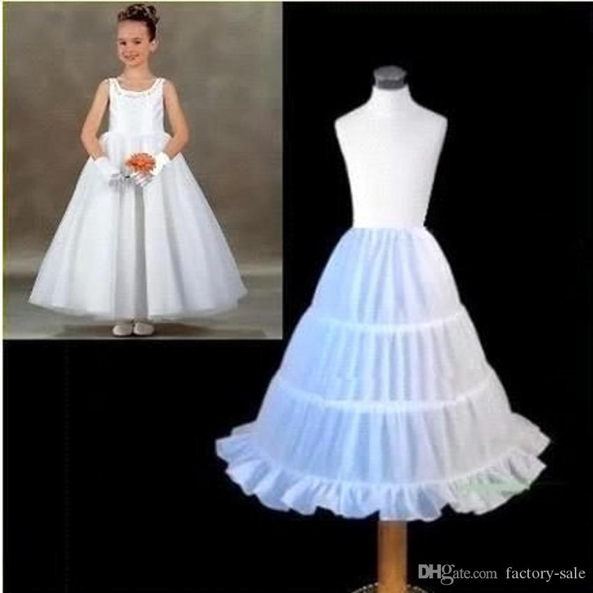 Meistverkaufte Kinder Petticoa A-line 3 Hoops Kinder Krinoline Braut Unterrock Hochzeit Zubehör Für Blumenmädchen Kleid CPA306