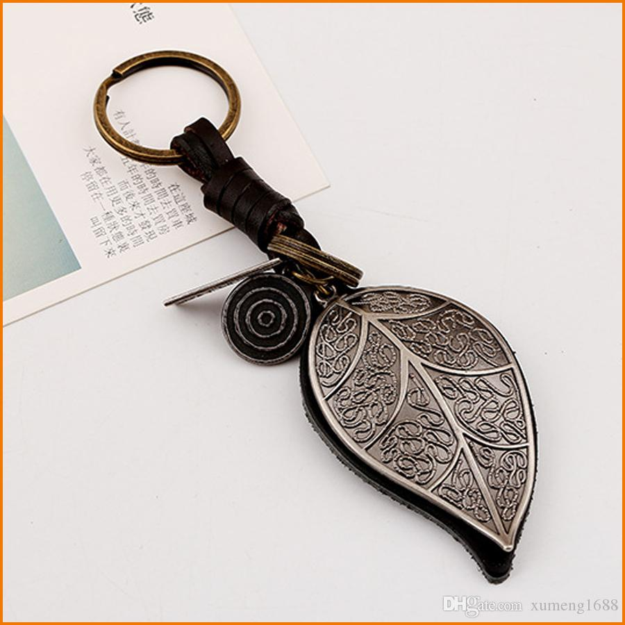 Retro Big Leaf Bag Pendant Keychains 34cb6c314f