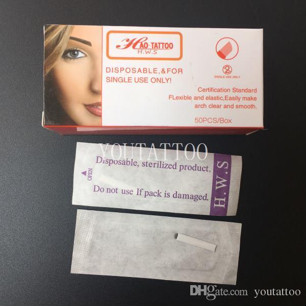 50 Teile / schachtel 14 Pin Microblading Klingen 0,2mm Durchmesser Permanent Make-Up Manuelle Augenbraue Tattoo Pen Nadel Stickerei