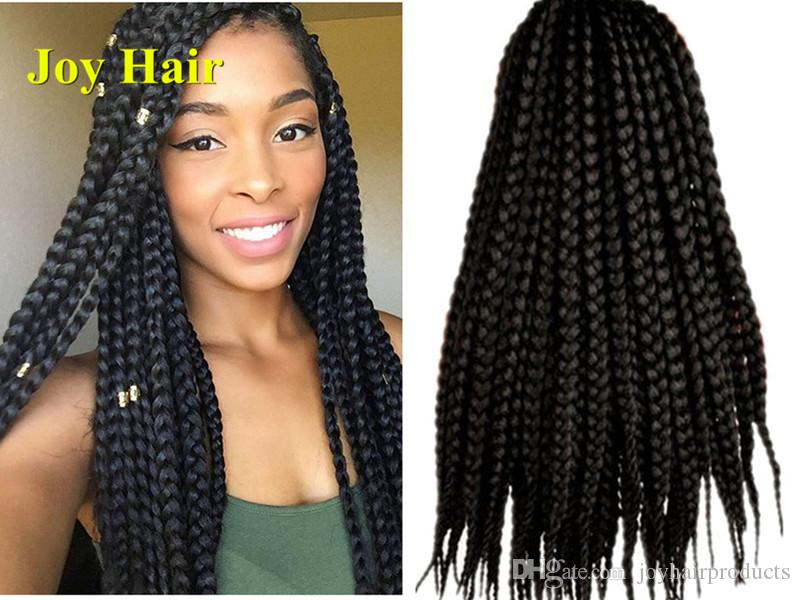 2019 Pretwist 3s Crochet 3x Box Braids Hair Extensions Syntheic Hair