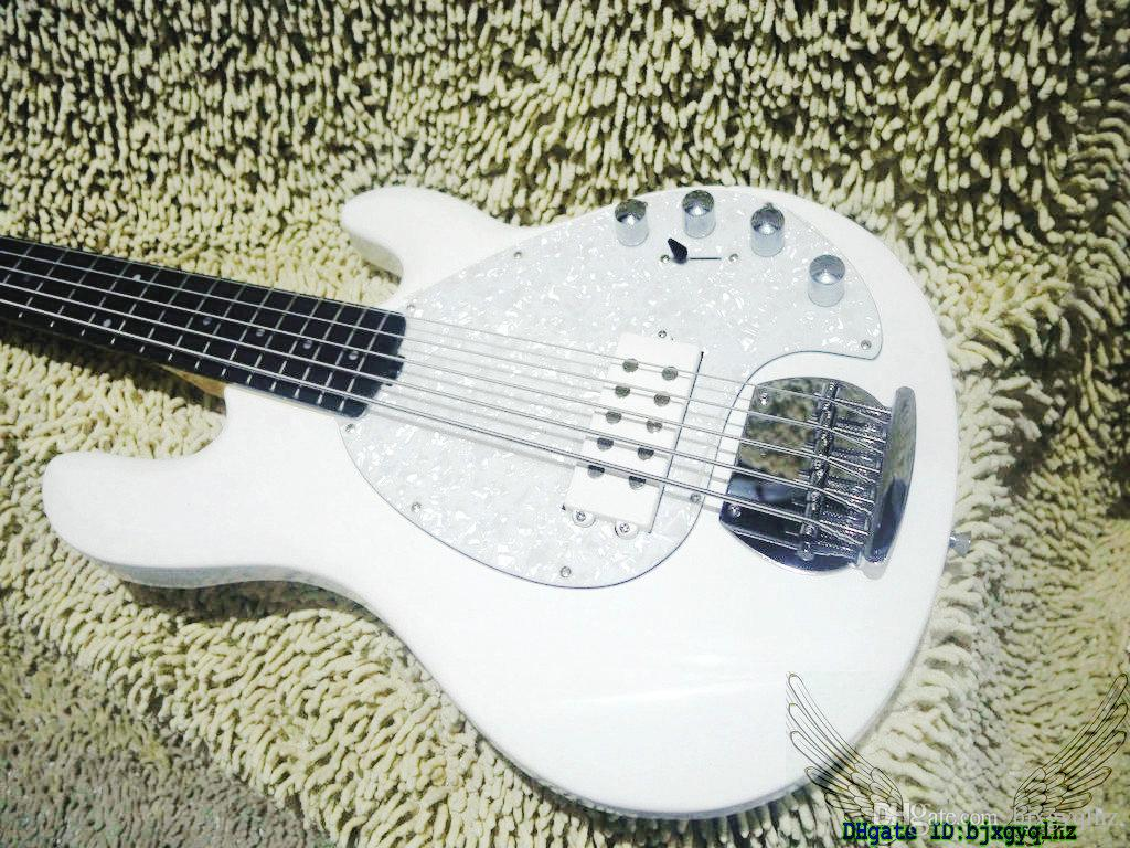 White StingRay 5 Electric Bass Rosewood Fingerboard New Arrival Wholesale Guitars