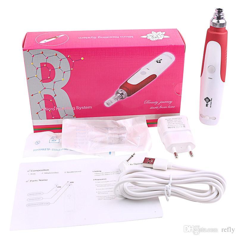 MYM 전기 Microneedle 롤러 광자 전기 Derma 스탬프 Dermapen 마이크로 바늘 치료 마이크로 바늘 MYM 더 마 펜