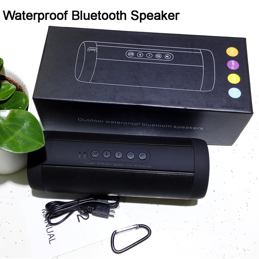 Wholesale- Real Pictures IP65 Waterproof Outdoor Sport Woofer Bluettoth Hoparlor Portable 10W Wireless Bluetooth Speaker for Xiaomi Column