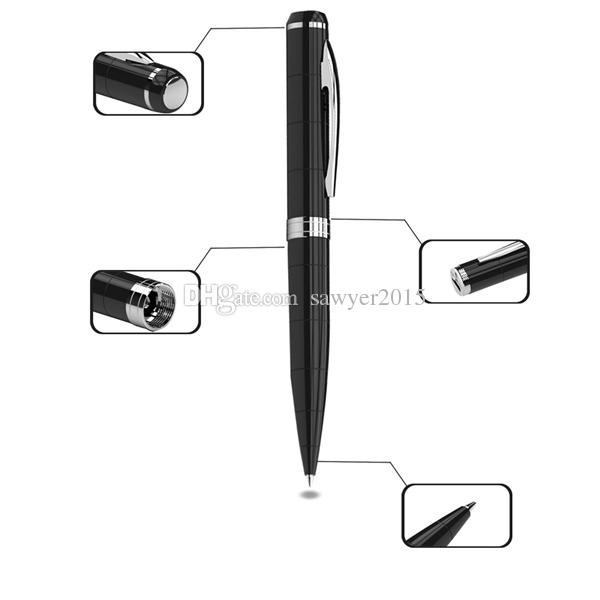 HD 8GB Pen Digital Audio Voice Sound Recording Recorder MINI Dictaphone Pen Rechargeable MP3 Player Black with retail box
