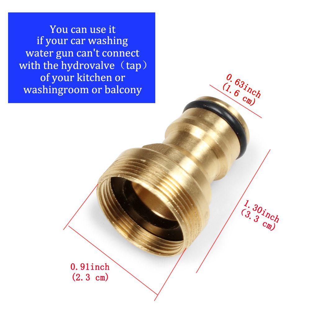 10 unids Conectores de Adaptador de Metal Para Agua de Grifo Adaptador de Pistola de Agua de Lavado Del Coche