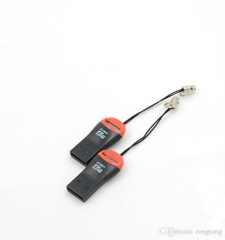 lettore di schede di memoria T-flash USB 2.0 T-flash lettore di schede Micro SD card Micro adattatore 8 GB 16 GB 32 GB 64 GB spedizione gratuita DHL