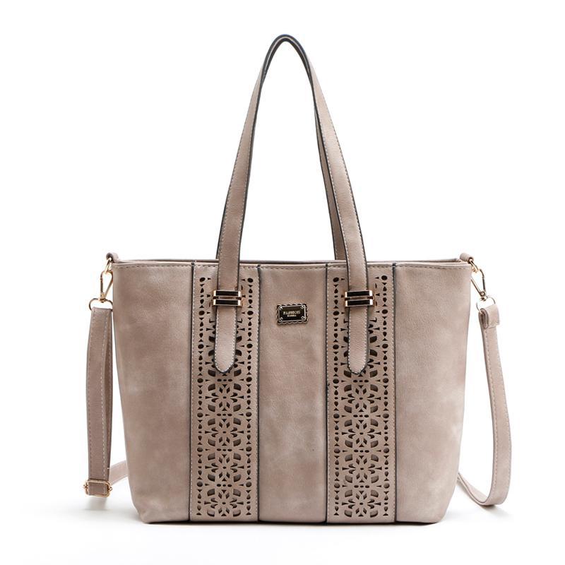 Wholesale Women Bag Ladies Handbag Hollow Out Rivet Pu Leather Messenger Bags  Handbags Women Famous Brands Women Shoulder Bag Tote Bag Wholesale Bags ... c5cb59c4ef0a8