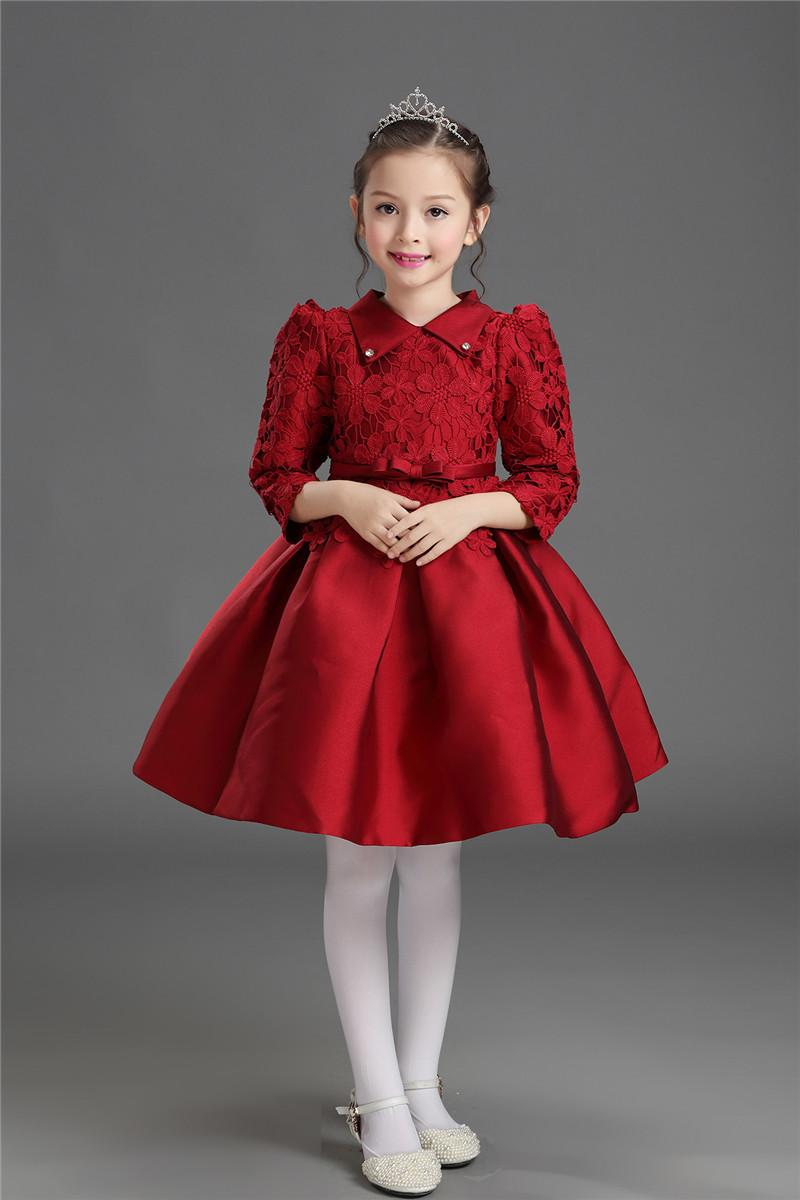 09629bcafd59 2019 Kids Clothes Girls 2018 New Girl Dress Korean Long Sleeved ...