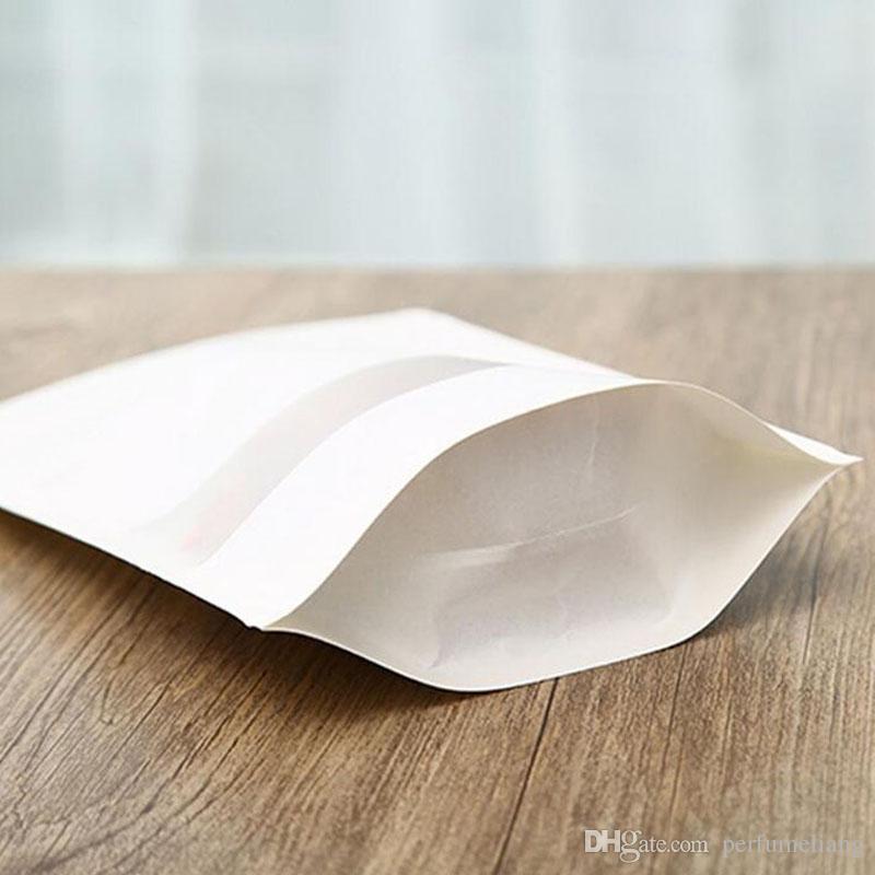 Weiß Kraft Paper Mylar Doypack Beutel Lebensmittel teestubenPizzerienrestaurantsimbiss Paket-Speicher-Beutel Stand Up ZA4168 Verpackung