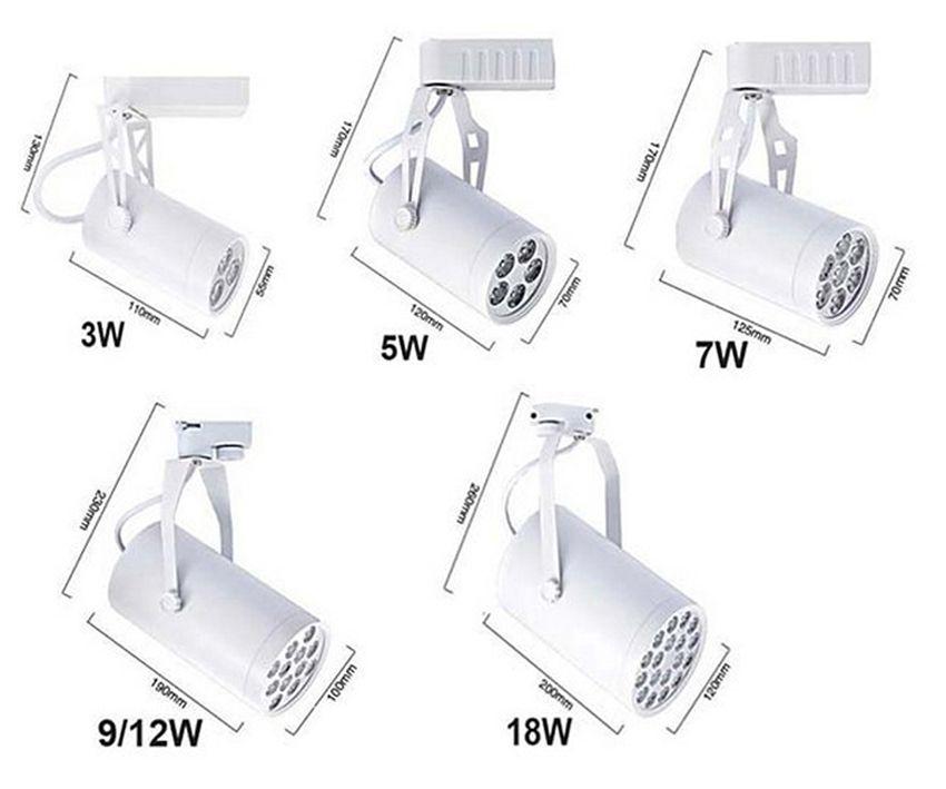 /  Chip di Epistar 3 anni di garanzia CE RoHS Dimmable LED Track Light 12W Spot Lampadina Spotlight Rail Lamp Housing spesso