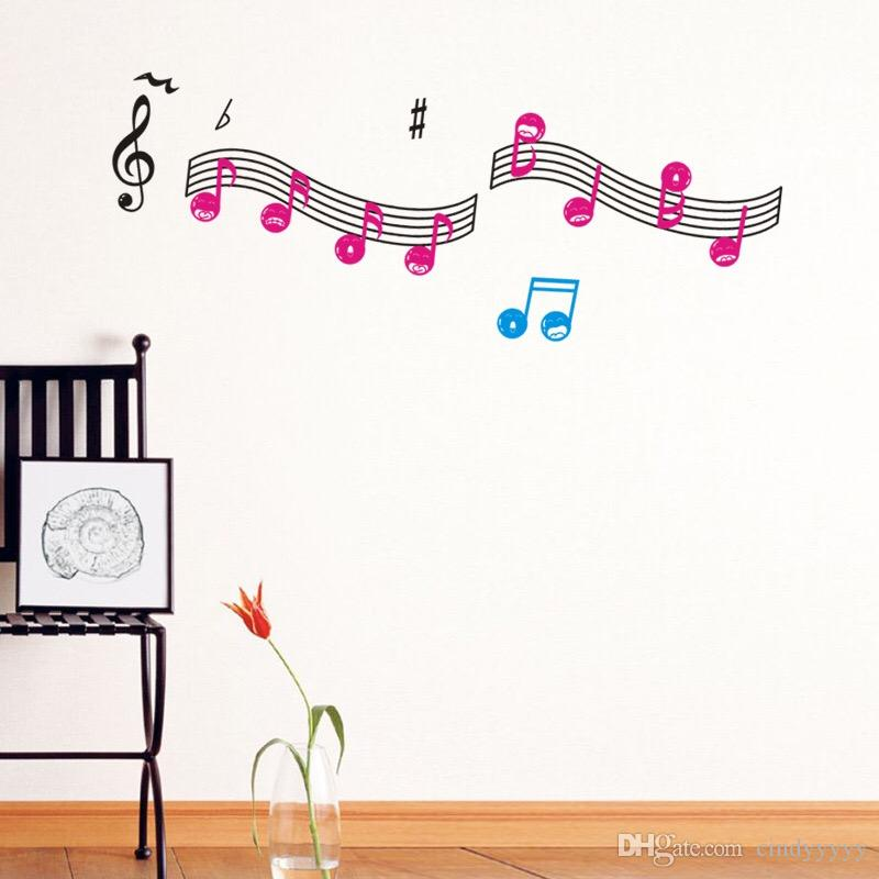 2017 Brand New Diy Wallpaper Music Note Wall Stickers For Creative Wall Art  Decoration Music Wall Decals Home Bedroom Decor From Cindyyyyy, $4.38 |  Dhgate. Part 50