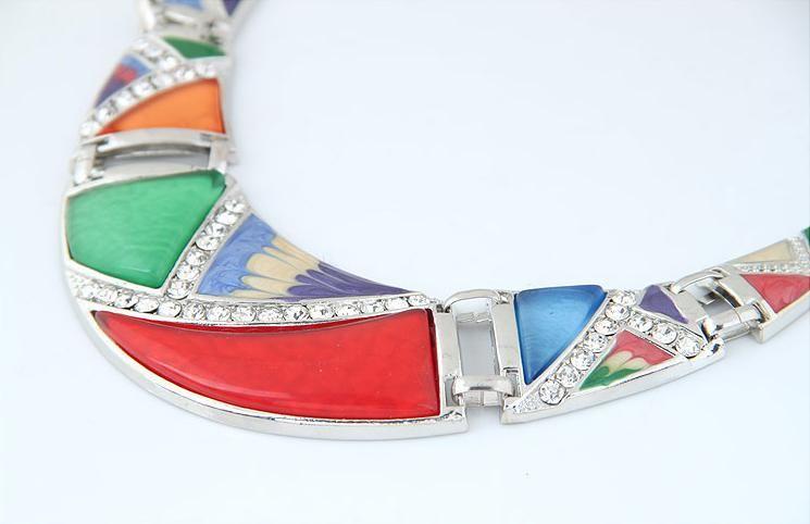 Retro Weinlese-einzigartiger gemalter Meniskus-unregelmäßiger geometrischer Charme-Anhänger-Halsketten-Wasser-Tropfen-Baumeln-Ohrring-Mode-Zusätze Schmuck-Sätze