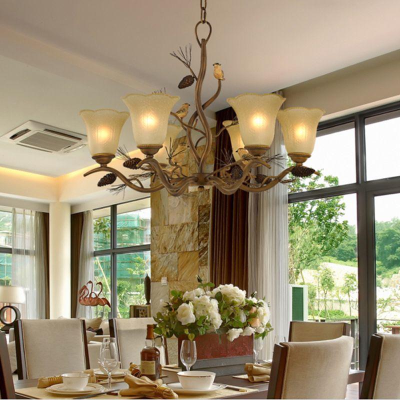 Creative Living Room Ber Chandelier Design Retro Lighting Tree Branch Suspension Restaurant Kitchen Pendant Classical Light