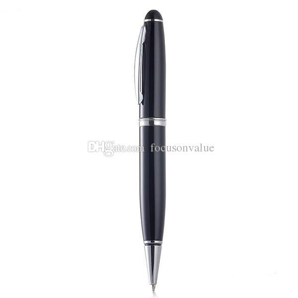 8GB القابلة لإعادة الشحن الصوت الرقمي مسجل صوت القلم الإملاء القلم USB القرص مسجل الصوت MP3 القلم لاعب أسود مع صندوق البيع بالتجزئة