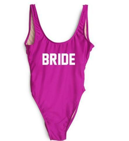 7647c3ce4b BRIDE Laddies Jumpsuit Letter Sexy Swimsuit Women Rompers One Piece ...