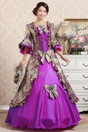 Customized 2015 Brand New Autumn & winter European court dress For ladies