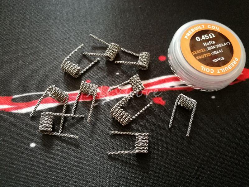 Bobine giganti Hoffa Wire 0.25ohm 045ohm Alveare torto Scala a scosse Taiji Tiger Alien Premade Wrap Wires Resistenza prefabbricata RDA Vape