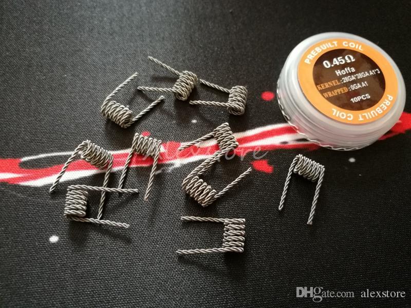 Dev Bobinleri Hoffa Tel 0.25ohm 045ohm Twisted Hive Staggered Merdiven Taiji Kaplan Alien Premade Wrap Teller RDA Vape için Önceden Direnç