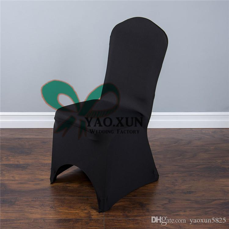 Black Color Lycra Spandex Chair Cover For Wedding Decoration