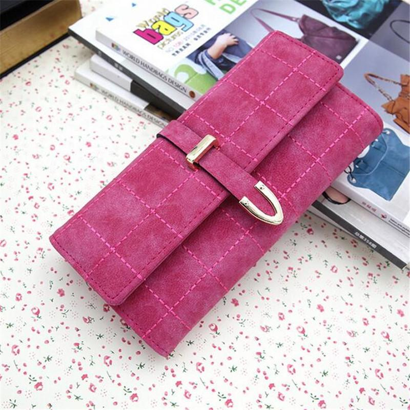 Fashion Women Clutch Bags Wallets & Holders Frosted PU Fresh Long Wallets Evening Bags For Lady Dress