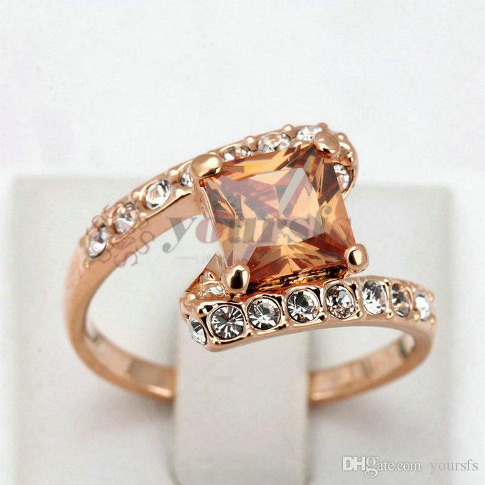 Yoursfs joyería de moda 18k chapado en oro circón mujer compromiso regalo de boda