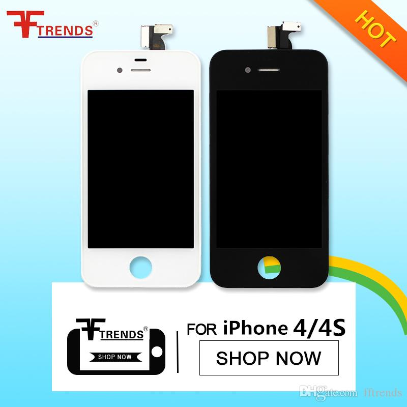High Quality for display iphone 4g and iphone 4s lcd screen white & black touch screen digitizer