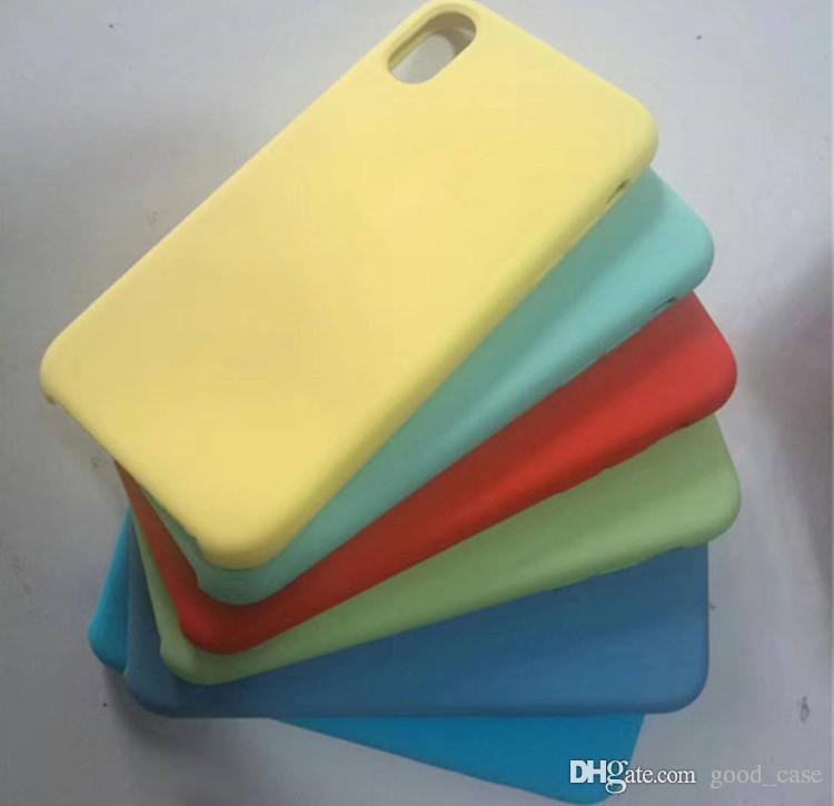 Custodia in silicone originale iPhone XR Custodia in gomma siliconica liquida con custodie iPhone xs max iPhone x 8 Plus 6 6s 7 plus