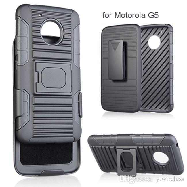 71cdbd86805 Fundas Para Movil Personalizadas Para Motorola Moto G4 Plus G3 E2 G4 Play  G5 Plus PC Funda Híbrida De Silicona Clip Para Cinturón Con Soporte De  Protección ...