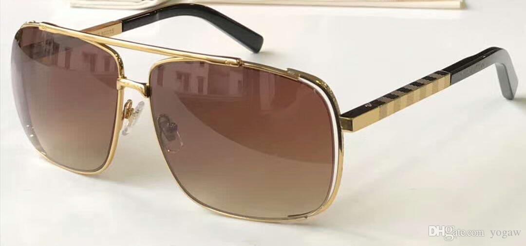 Men Attitude Pilote Gold Brown Sunglasses Z0536u Designer Sunglasses Unisex Brand New With Box