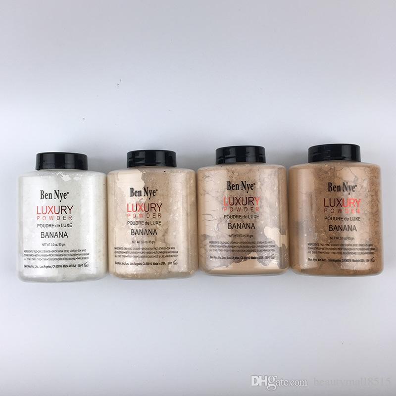 Vente usine New Ben Nye Maquillage 85G Banana luxe en poudre 4 couleurs de haute qualité de finition Huile visage naturel Gratuit en vrac Powders gratuitement DHL navire