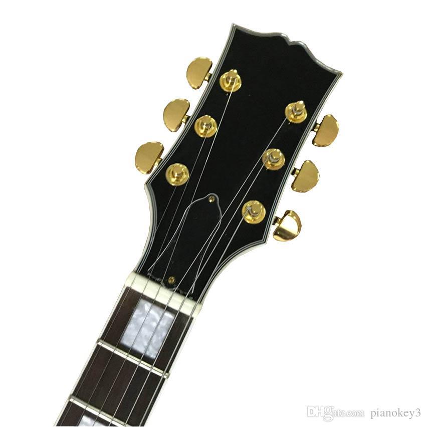 Yeni varış solak SG tarzı elektro gitar, siyah renk ve altın 3 manyetikler Çin yapımı gitar