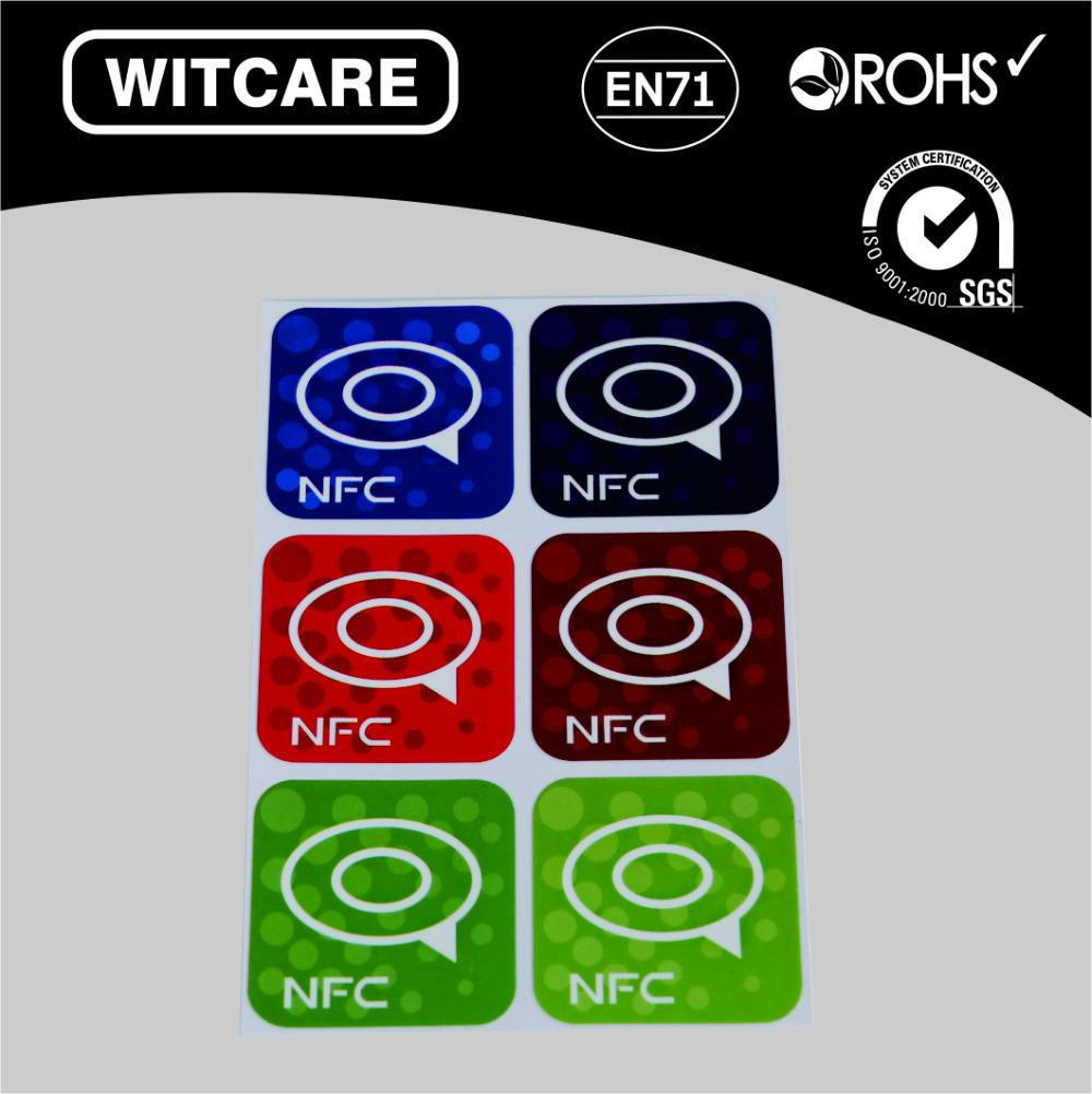 Wholesale- NTAG 213 Waterproof NFC Tag Stickers RFID Adhesive Label for  Samsung iPhone 6 plus With Low Price * 6pcs/lot * Free Shipping