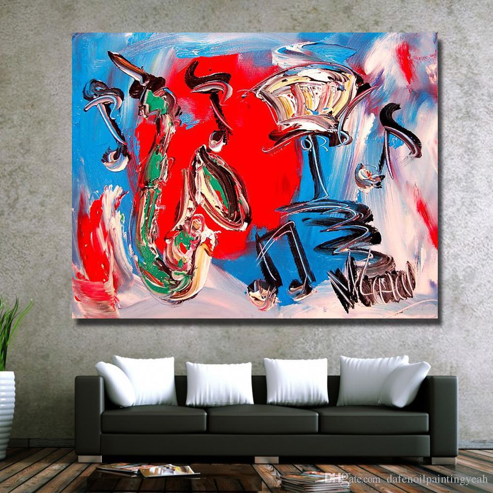 Nice Decor Peinture À L'huile Abstraite Rouge Mur Photos Moderne Toile Art Peinture pour Salon Pas Cher Peinture À L'huile Pas Encadrée
